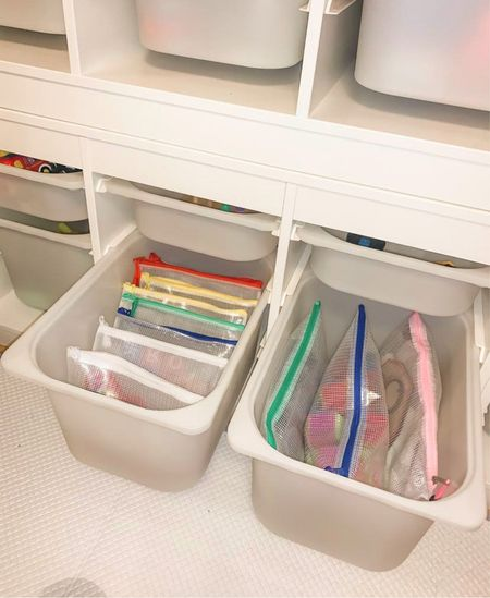 Organized living. Organized home. Organization. Ikea. Trofast. Playroom   #LTKkids #LTKfamily #LTKhome