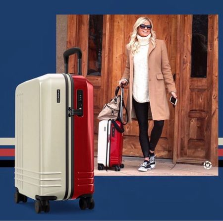 Favorite luggage! Choose your own color combinations! Fall travel outfit. #traveloutfit #airportoutfit #luggage #falltraveloutfit   #LTKtravel #LTKstyletip #LTKitbag