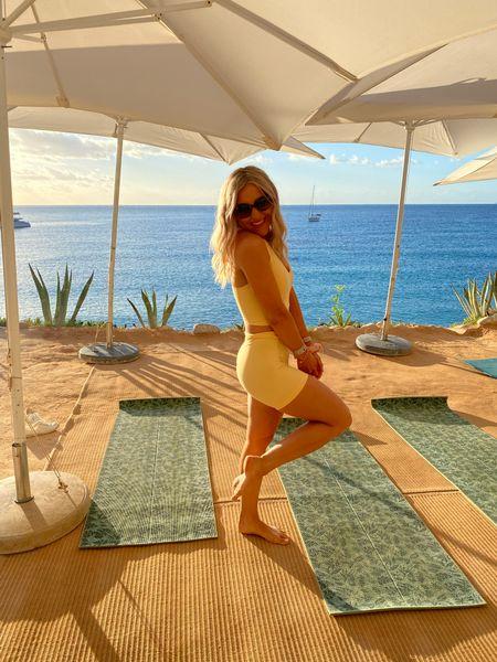 Yoga kit - yoga set - yoga clothes - Whitney simmonds gym shark - Whitney simmons GymShark - GymShark gym kit - GymShark kit - gym shark gym kit - GymShark leggings - yoga pants - yoga shorts - yoga outfit - soft gym kit - seamless gym set - sports bra - yellow gym kit - yellow gym set   #LTKfit #LTKunder50 #LTKHoliday
