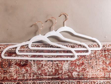 Amazon finds, home organization, velvet hangers, bedroom, area rug   #LTKstyletip #LTKhome #LTKunder50