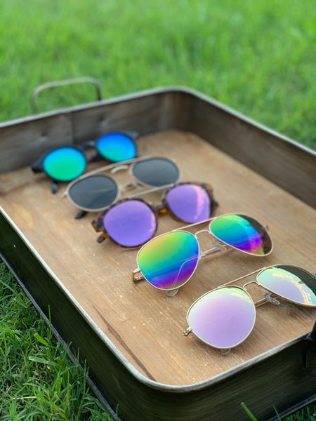 Summer sunnies roundup! It's warming up which means it's time to beef up the shade collection! We love these affordable options and wear them all of the time. The best part? The most expensive pair is $29. Easy on the budget and the eyes? It's a win win! http://liketk.it/3fec0 #liketkit @liketoknow.it #LTKunder50 #LTKstyletip #LTKswim @liketoknow.it.home @liketoknow.it.family @liketoknow.it.europe @liketoknow.it.brasil