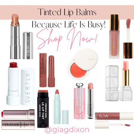 Tinted lip balms you can't go wrong with because life gets busy.  #LTKstyletip #LTKtravel #LTKbeauty