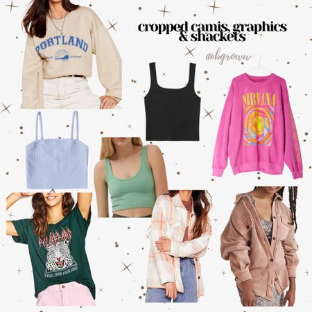 Spring trends Graphic tees and sweatshirts , camis , cropped everything & shackets!   http://liketk.it/38Mn4 #liketkit @liketoknow.it #LTKunder100 #LTKstyletip #LTKSeasonal