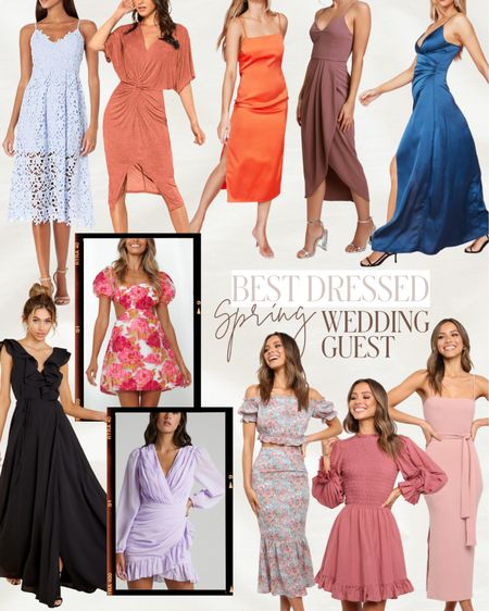 Spring wedding guest dress options! For formal weddings to cocktail attire, this round up has a wide range of dresses perfect for weddings from now into summer! Also, some of these could work for rehearsal dinner dresses!   #LTKSeasonal #LTKwedding #LTKstyletip