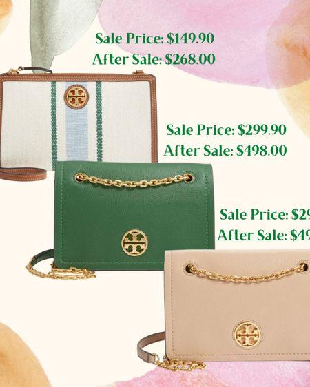 http://liketk.it/3jzgo #liketkit @liketoknow.it Nordstrom 2021 anniversary sale Tory Burch bags and purses. Green summer purse green stripes