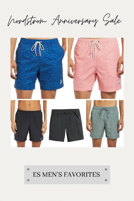 A few #nsale favorites for the guys on this Monday evening starting with a few of our favorite swim trunks and hybrid shorts… 💙  #LTKsalealert #LTKmens #LTKunder100