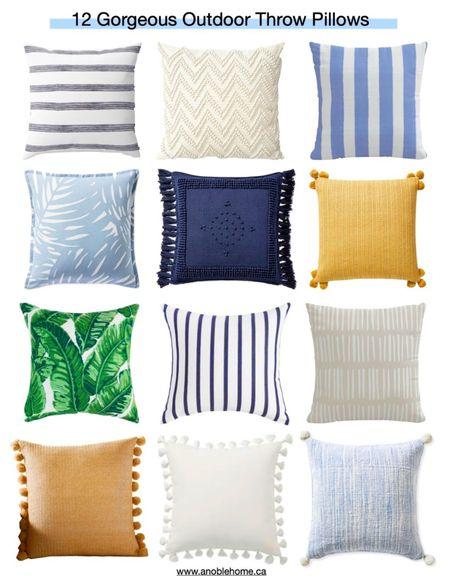 Outdoor throw pillows http://liketk.it/3gLnf @liketoknow.it #liketkit