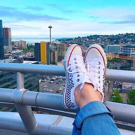 My first ever pair of #Chucks! // See my FAV @converse kicks by signing up here & liking this pic ?? @liketoknow.it www.liketk.it/1rCaK #liketkit // #chucktaylor #converse #seattle #pnw #blogger #styleblogger @hautelook