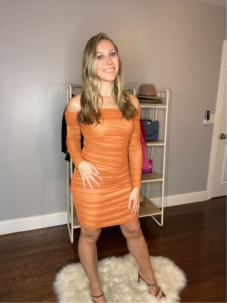 This dress is an Amazon find, but it's a little cheap- the mesh rolls up when you move your arms & I'd have to secure it down with tape or something. The material, color, & fit are to die for though. Wearing a Small  #LTKunder50 #LTKwedding #LTKSeasonal