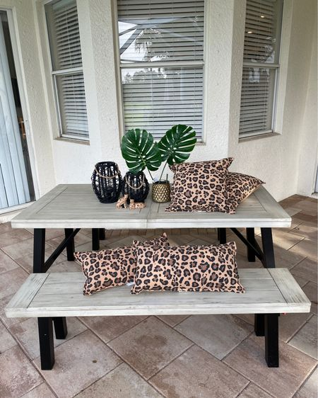 My fun new lanai decor 😄 I'm lovin leopard print right now, so why not?! Just got this picnic table, it's well made and perfect for our family. Some items I found at Hobby Lobby. They are having 50% off a bunch of stuff right now! http://liketk.it/2RYjK #liketkit @liketoknow.it