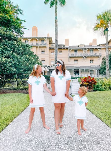 Three peas in a pod. ❤️❤️❤️ I know the matching moments won't last forever, but I'm going to have the outfits ready as long as I can. // coverups from Cabana Life and the rest from 30A Mama.  Jekyll Island Club Resort  #ltktravel   #LTKkids #LTKswim #LTKfamily