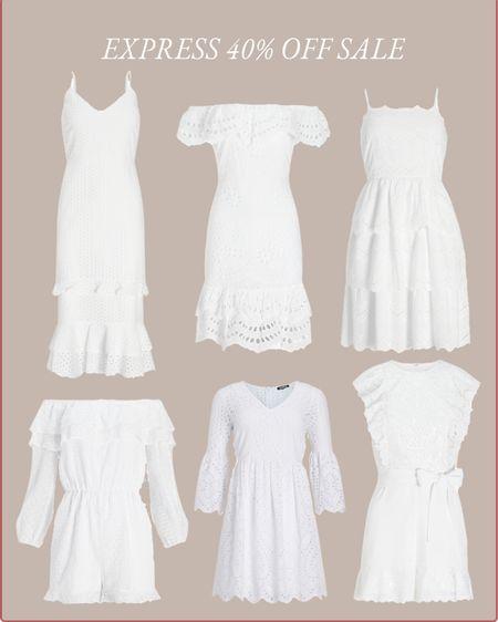 cute white dresses currently 40% off at Express   #LTKsalealert #LTKunder100 #LTKwedding #liketkit http://liketk.it/3gij8 @liketoknow.it