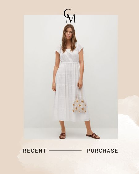 Mango textured cotton-blend dress http://liketk.it/3hRpr @liketoknow.it #liketkit #LTKunder100