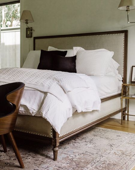 Our master bedroom... FINALLY. All of the details, including these gorgeous @peacockalley linens #todayonTKC. http://liketk.it/2u2g2 #liketkit @liketoknow.it #LTKhome @liketoknow.it.home