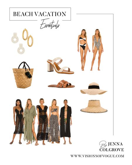 Beach vacation essentials! What to pack for your next trip! Pool coverups, straw bag, statement earrings, straw hats, and summer sandals!   #LTKunder100 #LTKtravel #LTKstyletip