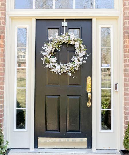 Easy DIY spring wreath!   Amazon finds, home decor, spring finds, spring decor   #LTKhome #LTKSeasonal #LTKstyletip