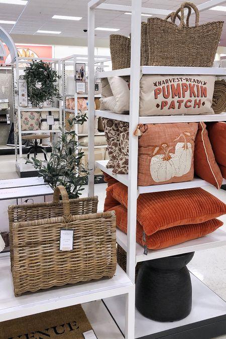 Target Fall Decor - New Arrivals! Studio McGee, pumpkins, pillows and fire log holder | Target Home Decor, fall home decor, home decor, neutral fall decor, #falldecor, autumn decor, fall style, target style #targetstyle #LTKFall  #LTKhome #LTKstyletip #LTKSeasonal #LTKunder50