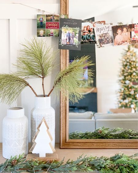 Holiday greeting cards are my favorite! Easy DIY Christmas card display.   #LTKhome