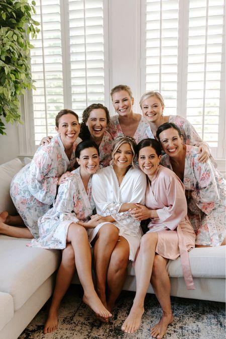 Bridesmaids robes, bridal robe, wedding robes, getting ready robes  #LTKwedding #LTKunder100