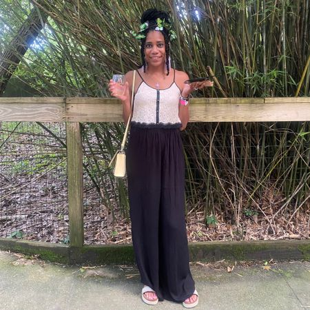 Summer style: Palazzo pants + Butterfly headband+ Chanel necklace + Yellow Kate Spade handbag http://liketk.it/3fSOR #liketkit @liketoknow.it #LTKstyletip #LTKunder100 #LTKtravel