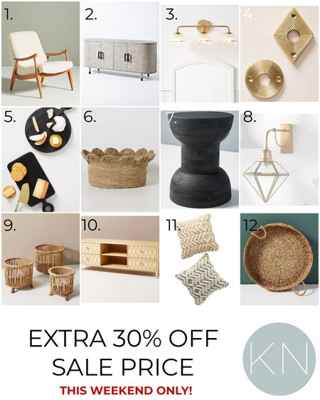 Great home decor pieces that are 30% off the sale price this weekend only — plus free shipping* on $50+! Accent chair cheese board basket side table sconce sideboard fall pillow media cabinet  #LTKsalealert #LTKhome #LTKstyletip