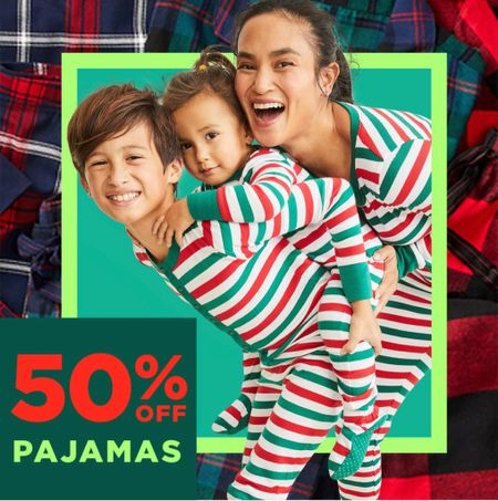 Old Navy holiday pajamas 50% off!   #LTKSeasonal #LTKHoliday #LTKsalealert