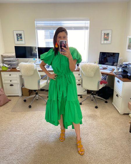 Target Finds! Green summer dress from Christopher John Rogers + Target. Super comfortable and has pockets! #LTKunder100 #LTKwedding #LTKunder50 http://liketk.it/3gqRh #liketkit @liketoknow.it