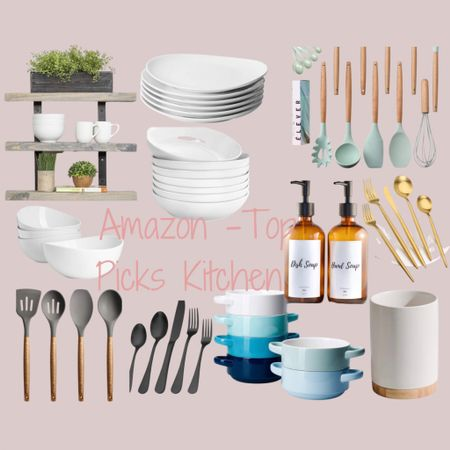 http://liketk.it/3hHFP #liketkit @liketoknow.it #LTKhome #LTKsalealert #LTKunder50  Some of my favorites from Amazon, in one bundle. Now I just need to snag that wood three tier shelf system. Exposed dishes truly add some texture to kitchens, Gives you that farmhouse feel.  The white porcelain dishes I linked I own & they are all great quality. I really want to grab those different colored blue bowls next 👏🏼👏🏼   Price ranges: $20-$60