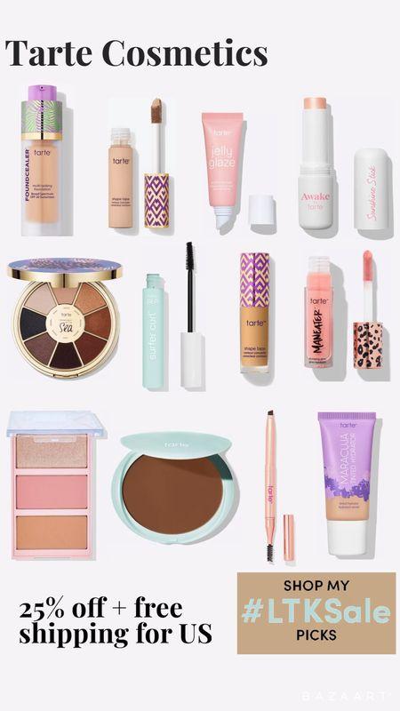 Tarte Cosmetics 25% Off sitewide plus free shipping on for US   #LTKbeauty #LTKSale #LTKsalealert
