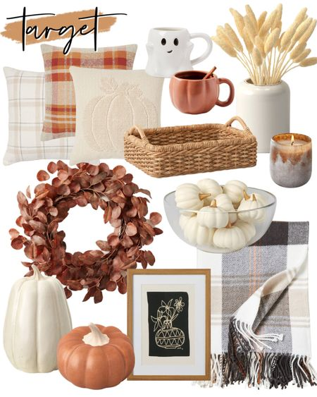 Target Autumn Home Finds! 🍂 Target home, fall decor, autumn decor, Target finds, cmcoving, Caitlin Covington, fall wreath, throw blanket, woven tray   #LTKunder50 #LTKhome #LTKSeasonal