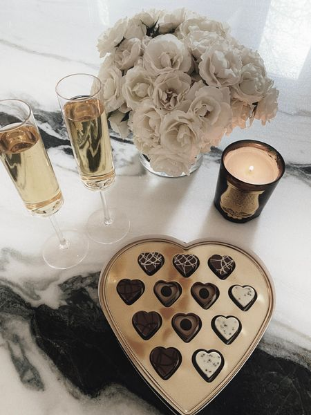 Flute champagne glasses and fall candle #fall  #LTKSeasonal