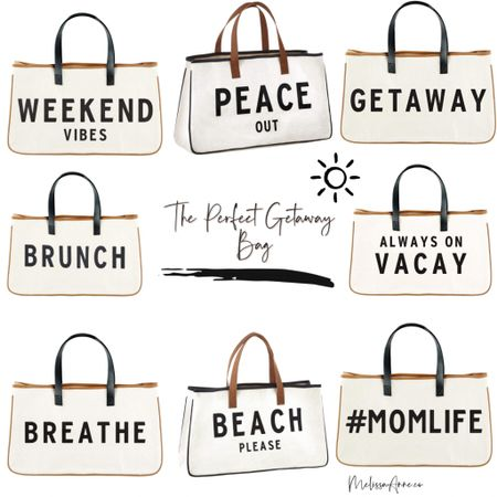 Beach totes, brunch tote, weekend tote, weekend bag, carry on, mom tote, beach bag. How cute are these affordable beach bags or every day totes? I need them all! http://liketk.it/3gHHs #liketkit @liketoknow.it