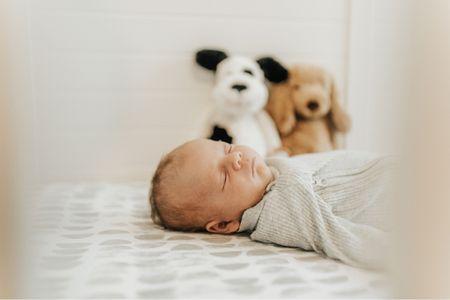 Baby boy Amazon onesie & baby boy crib bedding. Crib sheets. Pottery barn baby   #LTKhome #LTKfamily #LTKbaby