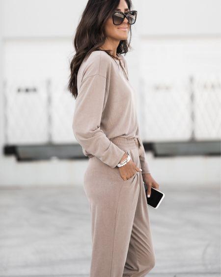 I'm wearing XS joggers - and small top, I'm just shy of 5'7 for reference. Joggers, athleisure, casual, silk seude fabric, StylinbyAylin @liketoknow.it #liketkit http://liketk.it/3hd4U   #LTKDay #LTKunder50 #LTKsalealert