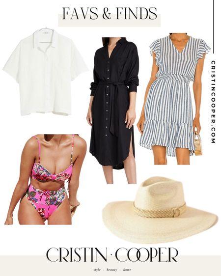 Favs & Finds // Button down too // dress // bikini http://liketk.it/3gl4I #liketkit @liketoknow.it