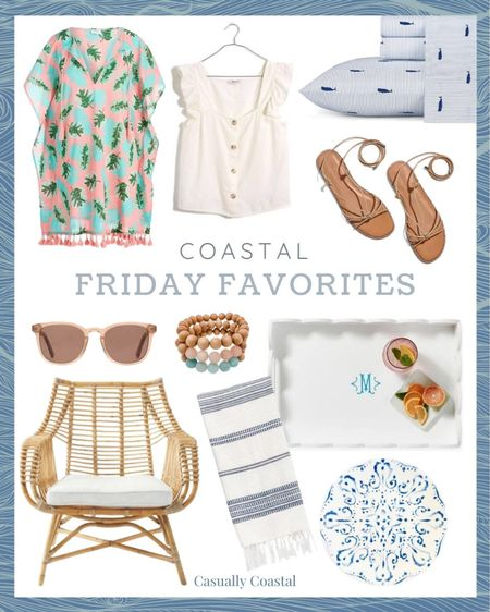 My Friday Favorites, including this adorable beach cover-up that's 30% off!  @liketoknow.it @liketoknow.it.home #liketkit #LTKhome #LTKsalealert #LTKswim http://liketk.it/3fIDz  gifts gifts for her, spring home decor, summer decor, summer decorations, summer home decorations, coastal decor, beach house decor, beach decor, beach style, coastal home, coastal home decor, coastal decorating, coastal house decor, blue and white decor, home accessories decor, coastal accessories, coastal living room decor, coastal family room, living room decor, living room furniture, preppy style, beach vacation outfits, summer fashion, resort style, resort wear, beach style, beach dress, beach coverup, beach tunic, beach cover up tunic, beach vacation coverups, coverups for women, tank with buttons, sleeveless top with ruffles, sleeveless top with buttons, madewell tops, white sleeveless top, white sleeveless blouse, linen tops, sheets queen, sheets for king bed, sheets full, sheets for twin, sheets for bed amazon, sheets for boys, sheets for beach house, coastal sheets, lace up sandals, brown sandals, tan sandals, madewell sandals, sandals for women, brown sunglasses, brown sunglasses women, womens sunglasses, pink sunglasses, summer accessories, summer accessories jewelry, beaded bracelet, layered bracelets, rose wood bracelet, rosewood bracelets, bracelet stacks, casual bracelets, summer bracelet stack, summer bracelets, bracelets with beads women, tray with monogram, white trays, white lacquer, lacquer tray, tray with handles, tray for coffee table, tray for ottoman, tray for kitchen counter, tray for bar cart, scalloped trays, small trays, large trays, small tray for table, large tray for ottoman, housewarming gifts, hostess gifts, serena and lily chairs, serena & lily chairs, serena & lily living room, rattan chair, decor for sunroom, furniture for sunroom, sunroom furniture, coastal chairs, coastal chairs living room, coastal chairs wicker, casual chairs, hand towels bathroom, ha