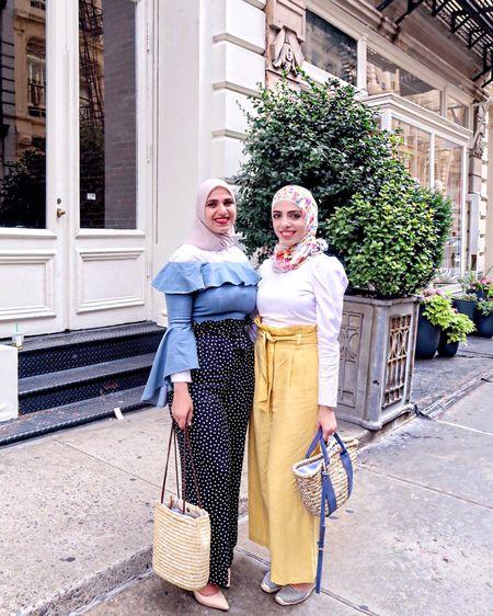 Matching wide-leg pants with @israa_odeh 💁🏻 http://liketk.it/2saWj #liketkit @liketoknow.it