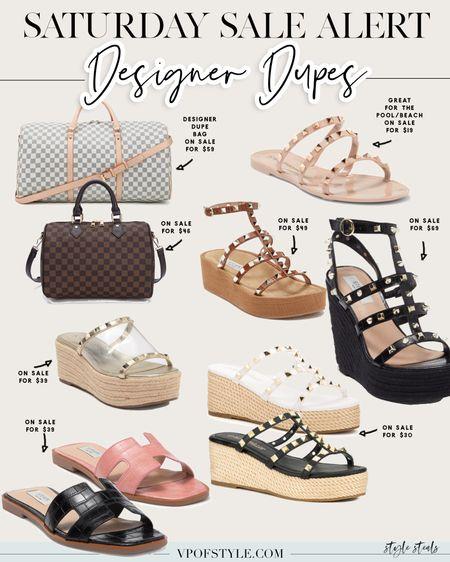 Designer dupe summer sandals and designer dupe bags on sale! All under $70 http://liketk.it/3joXB #liketkit @liketoknow.it #LTKshoecrush #LTKunder100 #LTKsalealert