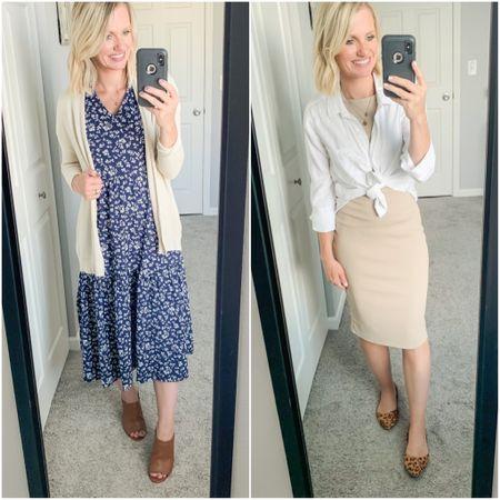 2 midi dresses to style this fall.   #LTKSeasonal #LTKstyletip #LTKunder50
