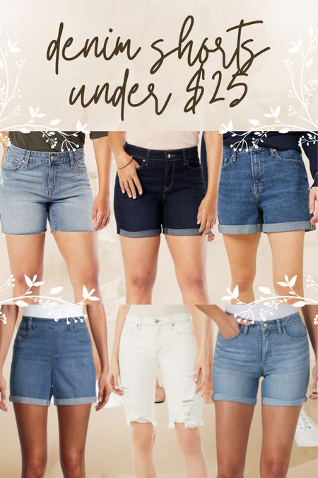 Walmart, denim, shorts, jeans, under $25, light wash, medium wash, dark wash, white, distressed, cuffed, dad short, boyfriend short, trend, affordable http://liketk.it/3kcgZ #liketkit @liketoknow.it #LTKunder50 #LTKstyletip #LTKcurves Follow me on the LIKEtoKNOW.it shopping app to get the product details for this look and others