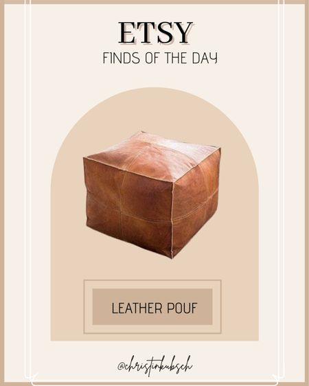 2 leather poufs 18x18x18 for $158 which is 60% off!    #LTKunder100 #LTKhome #LTKsalealert