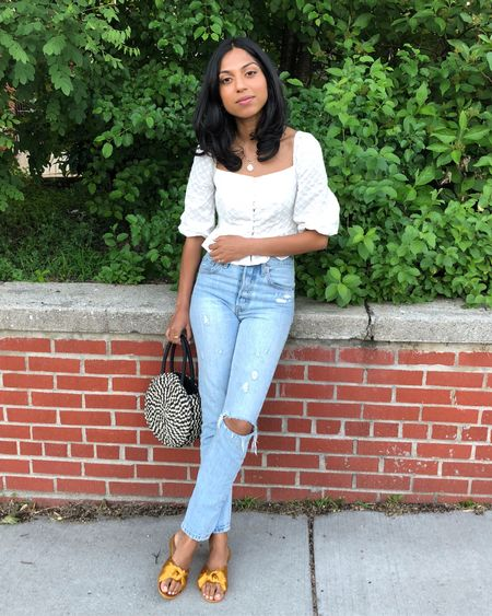 All about the white eyelet top. ☀️ | The summer tops you need now live on symaspeaks.com! #linkinbio #ootd http://liketk.it/2weeh #liketkit @liketoknow.it