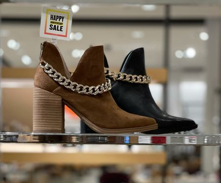 Booties with an edge! These #nsale booties with the chain detail have been a hit with our clients!  #LTKshoecrush #LTKunder100 #LTKsalealert