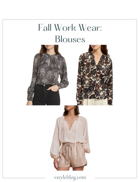 Fall outfits, Work wear, Teacher outfits, Back to school, Long sleeve blouses, Sale alert  Joie Shauna Mixed Animal Print Blouse @ Nordstrom Rack (was $248, now $79.97) @ Saks Fifth Avenue (was $248, now $74.32)   Scotch & Soda Floral Stripe Jacquard Long Sleeve Blouse @ Soda & Scotch (was $128, now $64)   A.L.C. Delphina Popover Top @ Nordstrom ($325) @ A.L.C. ($325)  #LTKworkwear #LTKsalealert #LTKunder100