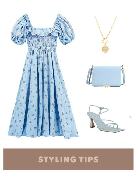 a floral ruffle midi dress paired with strappy sandals, handbag, and  and pendant necklace make a dressy spring outfit. Shop my daily looks and finds by following me on the LIKEtoKNOW.it shopping app http://liketk.it/3dueo  #liketkit @liketoknow.it l #LTKcurves #LTKsalealert #LTKstyletip #LTKtravel #LTKunder50 #LTKshoecrush #LTKunder100 # #LTKSeasonal #LTKitbag   Amazon fashion   amazon finds   amazon dress   nordstorm sale   summer fashion   spring dress   vacation outfit   summer dress   graduation dress   dresses summer   midi dresses   sandals    date night   sandal outfit   bags on sale   bags under 100   necklaces   sandals casual   strap sandals
