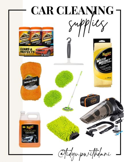 Amazon car cleaning supplies under $50. Keeping your car squeaky clean is easier than ever. Amazon finds. Amazon car cleaning supplies. Car vacuum cleaner. Microfiber car wash brush. Car cleaning wipes. Car squeegee.   #LTKhome #LTKfamily #LTKunder50