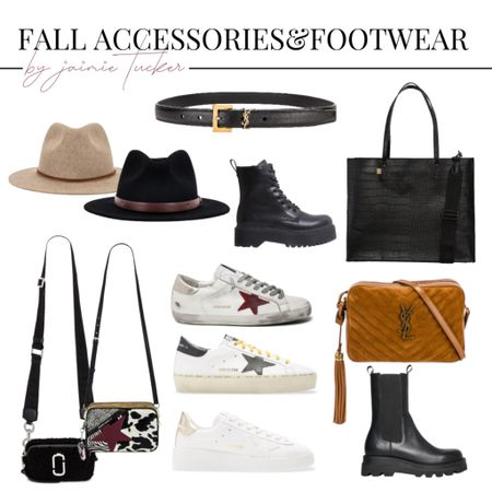 Fall accessories and footwear that you can rock during the chillier seasons! | #fallaccessories #womensaccessories #womenshandbags #shoulderbags #shoulderpurses #combatboots #sneakers #bestsellers #scarves #luxuryhandbags #designerpurses #totebag #designerbelt #fedorahats #JaimieTucker  #LTKSeasonal #LTKstyletip #LTKshoecrush