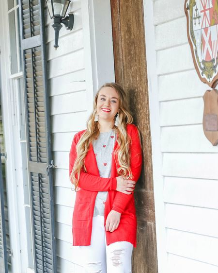 LOOK #2 for Valentine's Day! ❤️ Want to be comfortable and cute? This look is for you! Pair with white converse to kick up the casual vibes✌🏽 📷@Katie_BeePhoto   Just a few hours away from the weekend, y'all! TGIF! More V-Day looks to come, be on the lookout! 🌹Anyone celebrating early this weekend?  You can instantly get outfit details and shop looks on CentsibleBlonde.com or by following centsibleblonde on the LIKEtoKNOW.it app! If you have any questions, just let me know. 😊    http://liketk.it/2zNBU @liketoknow.it #liketkit #liketkitfashion #LTKunder50 #LTKunder100 #LTKsalealert #LTKstyletip