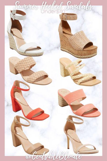 Summer heeled sandals from target under $40, summer sandals.    http://liketk.it/3iuQZ #liketkit @liketoknow.it #LTKshoecrush #LTKunder50 #LTKstyletip