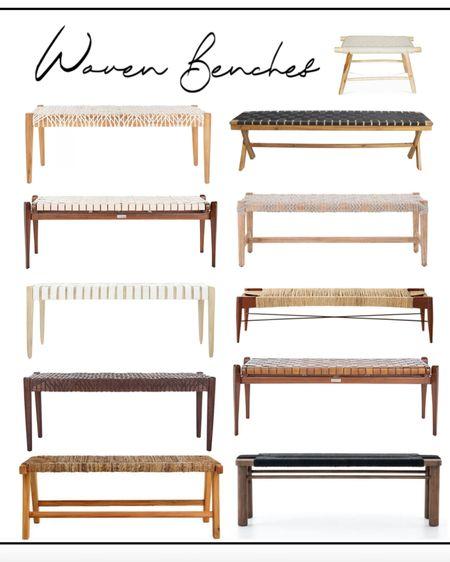 Woven benches ! Home decor    http://liketk.it/3eVIQ #liketkit @liketoknow.it     #LTKSeasonal  #LTKfit #LTKsalealert #LTKhome